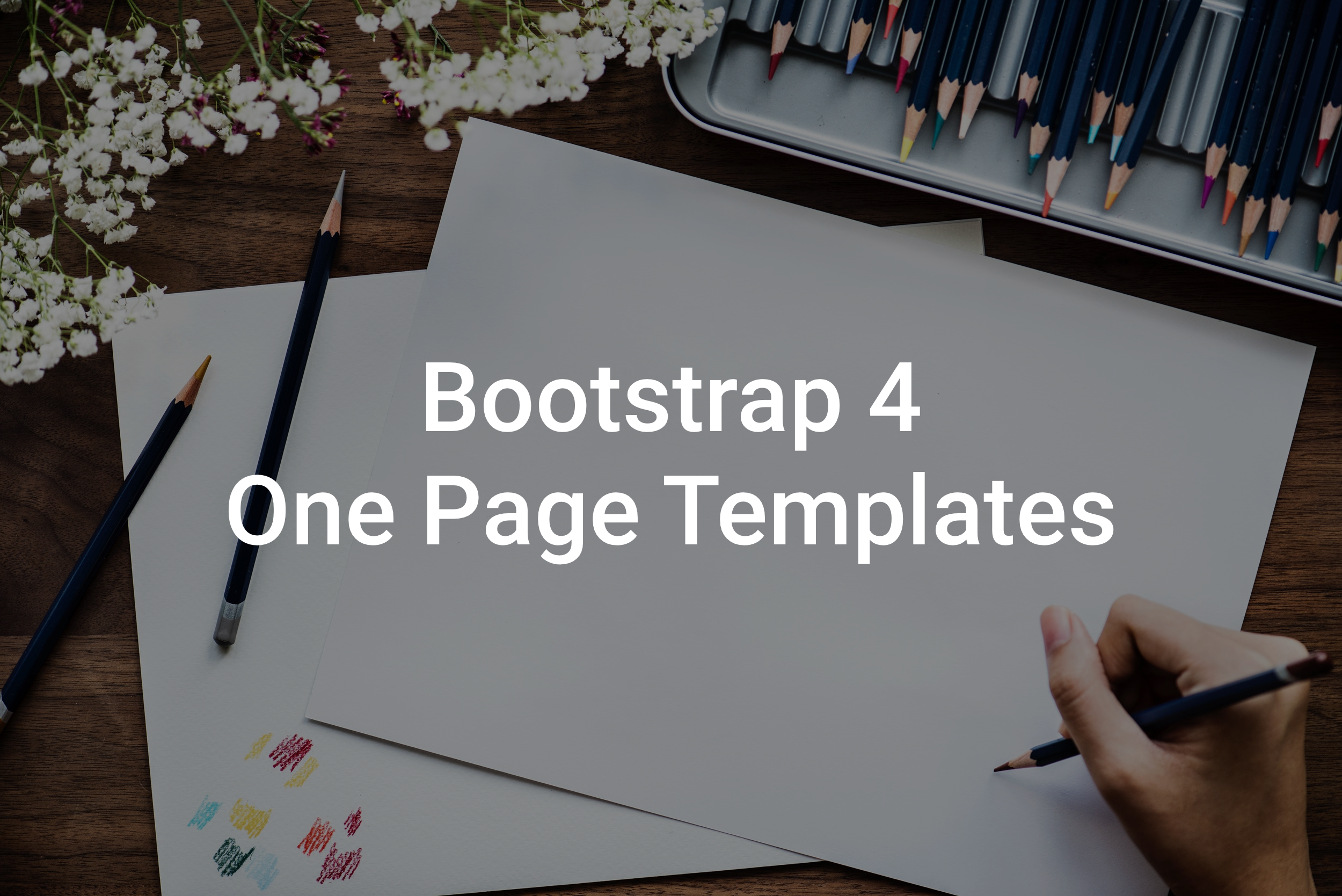 Top 19 Bootstrap 4 One Page Templates in 2018
