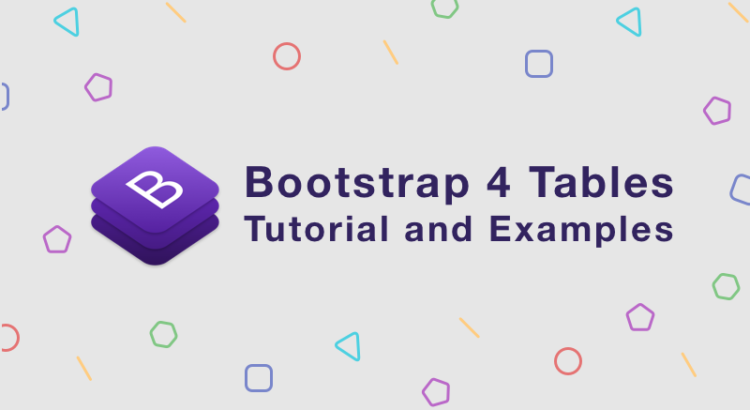 Day 9: Bootstrap 4 Tables Tutorial and Examples | BootstrapBay